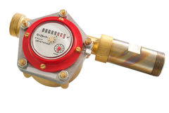 Hot water meter Royalty Free Stock Photos