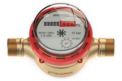 Hot water meter Royalty Free Stock Photo