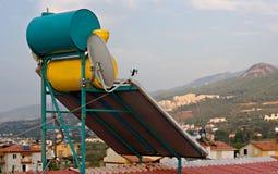 Hot water solar heating Stock Image
