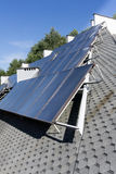 Hot water solar heating system Stock Images