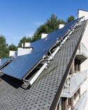 Hot water solar heating system Royalty Free Stock Photography