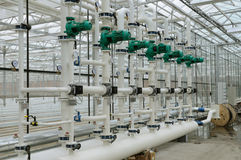 Hot water system Stock Photography
