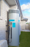 Hot water system. In backyard Stock Photos