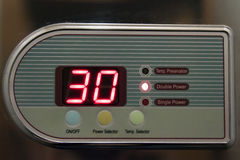 Hot water temperature royalty free stock image
