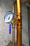 Hot water thermometer Royalty Free Stock Images