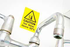 Hot water warning Stock Photography