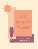 Hot weather injuries. Royalty Free Stock Photography