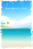 Hot weather sympathy sea landscape Stock Images
