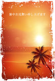 Hot weather sympathy sea landscape Royalty Free Stock Images
