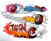 Hot wheels. On light background Royalty Free Stock Photo