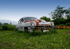 Hot Wheels. Abandoned old car rusting away Royalty Free Stock Image