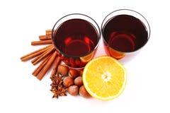 Hot wine stock image