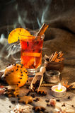 Hot wine for Christmas royalty free stock photo