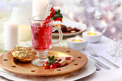 Hot wine cranberry punch Royalty Free Stock Image