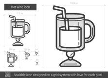 Hot wine line icon. Stock Images