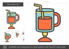Hot wine line icon. Royalty Free Stock Photography