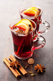 Hot wine (mulled wine) Stock Images