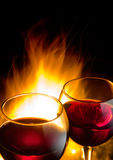 Hot wine night Stock Photos