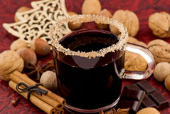 Hot Wine Punch Stock Images