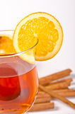 Hot wine punch. Wine Punch, with red wine, lemons, orange juice Royalty Free Stock Images
