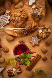 Hot wine punch with cookies Royalty Free Stock Photography