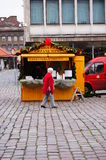 Hot wine stand Royalty Free Stock Photography