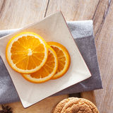 Hot wine for winter and Christmas with delicious orange and spices Stock Photography
