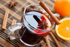 Hot wine for winter and Christmas with  spices Royalty Free Stock Image