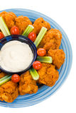 Hot Wing Plate Royalty Free Stock Photography