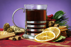 Hot winter beverage stock photography