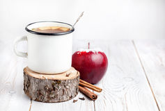 Hot winter beverage from apple Stock Photos
