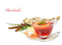 Hot winter drink Stock Image