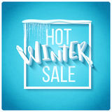 Hot winter sale Royalty Free Stock Image