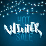 Hot winter sale. Banner, vector illustration, eps10 Stock Photography