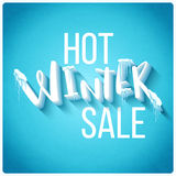 Hot winter sale Stock Photography