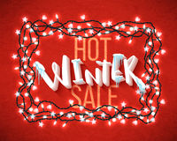 Hot winter sale Royalty Free Stock Photo