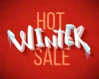 Hot winter sale Stock Photos