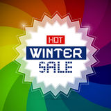 Hot Winter Sale Illustration Royalty Free Stock Photos