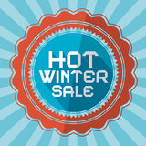 Hot Winter Sale Retro Background Royalty Free Stock Photo