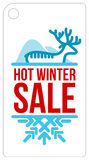 Hot winter sale sticker Royalty Free Stock Image
