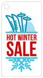 Hot winter sale sticker Stock Photography