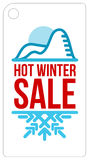 Hot winter sale sticker Royalty Free Stock Photography