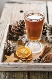 Hot winter spiced tea Royalty Free Stock Photography