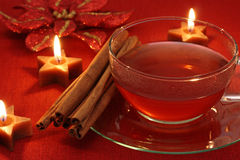 Hot winter tea Stock Photography