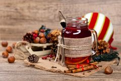 Hot winter tea Stock Photography