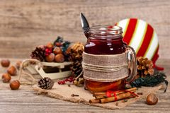 Hot winter tea Royalty Free Stock Photo