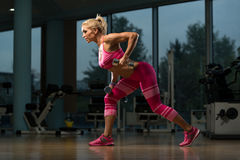 Hot Woman Doing Exercise For Back Royalty Free Stock Photography