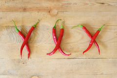 Hot xxx made with chili peppers Royalty Free Stock Photos