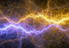 Hot yellow and cold blue plasma. Electrical power background Royalty Free Stock Photo