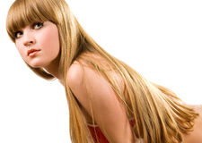 Hot young girl with nice long hair Royalty Free Stock Photo